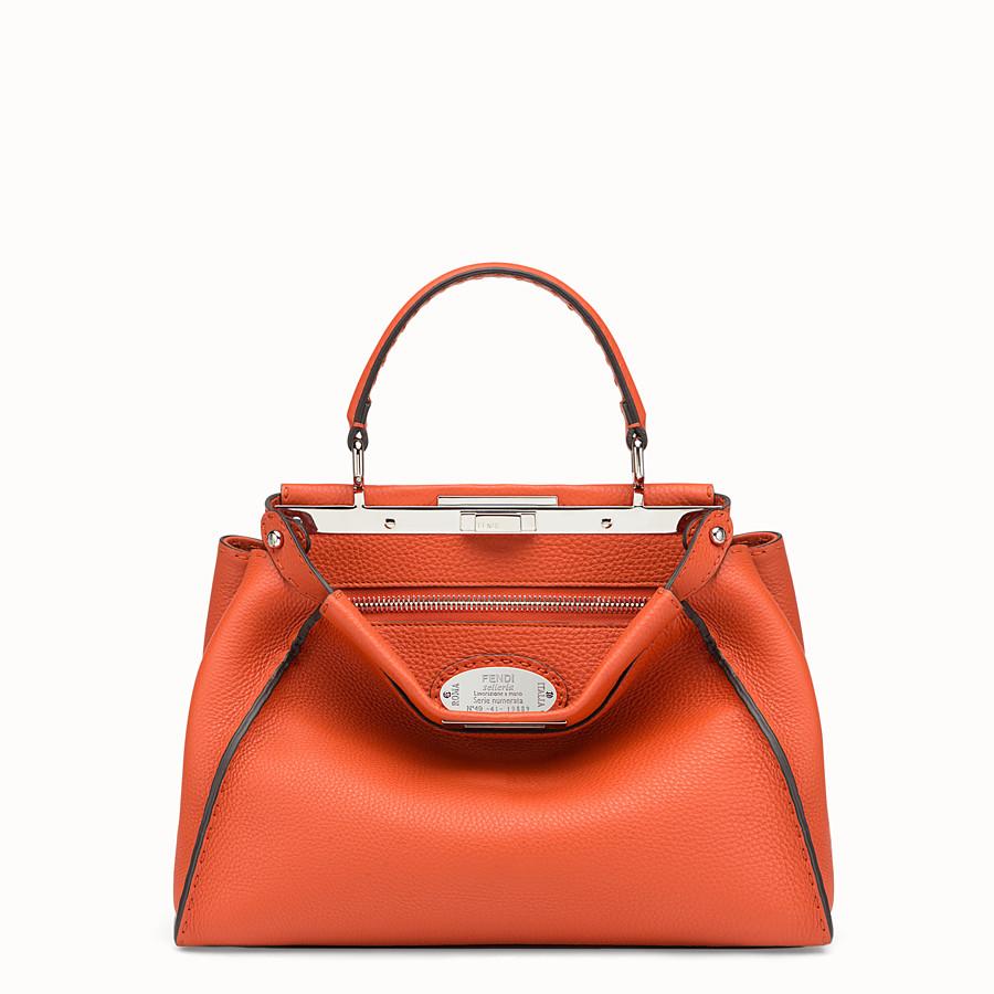 FENDI PEEKABOO REGULAR - Orange leather bag - view 1 detail