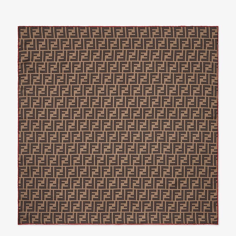 FENDI FENDIRAMA FOULARD - Multicolour silk foulard - view 1 detail