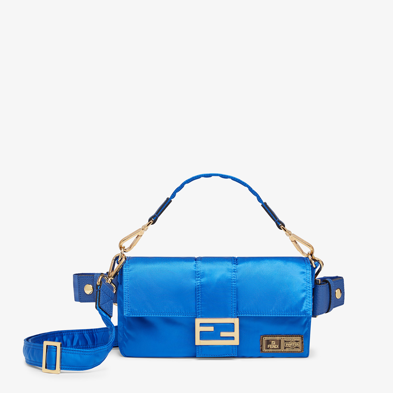 FENDI BAGUETTE FENDI AND PORTER - Blue nylon bag - view 1 detail