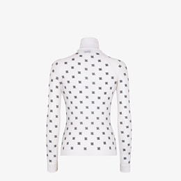 FENDI PULLOVER - White silk and wool jersey - view 2 thumbnail