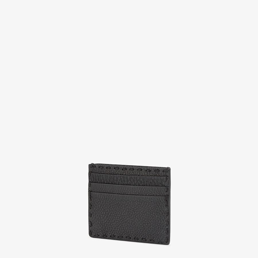 FENDI CARD HOLDER - Selleria 6-slot card holder in black - view 2 detail