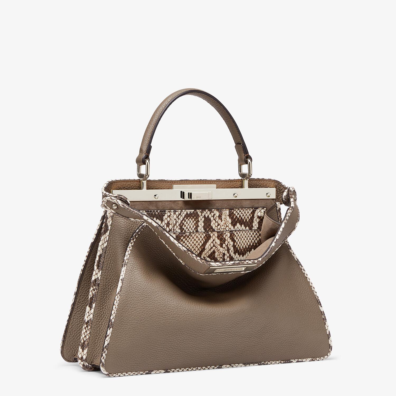FENDI PEEKABOO ISEEU MEDIUM - Gray full grain leather and elaphe bag - view 5 detail