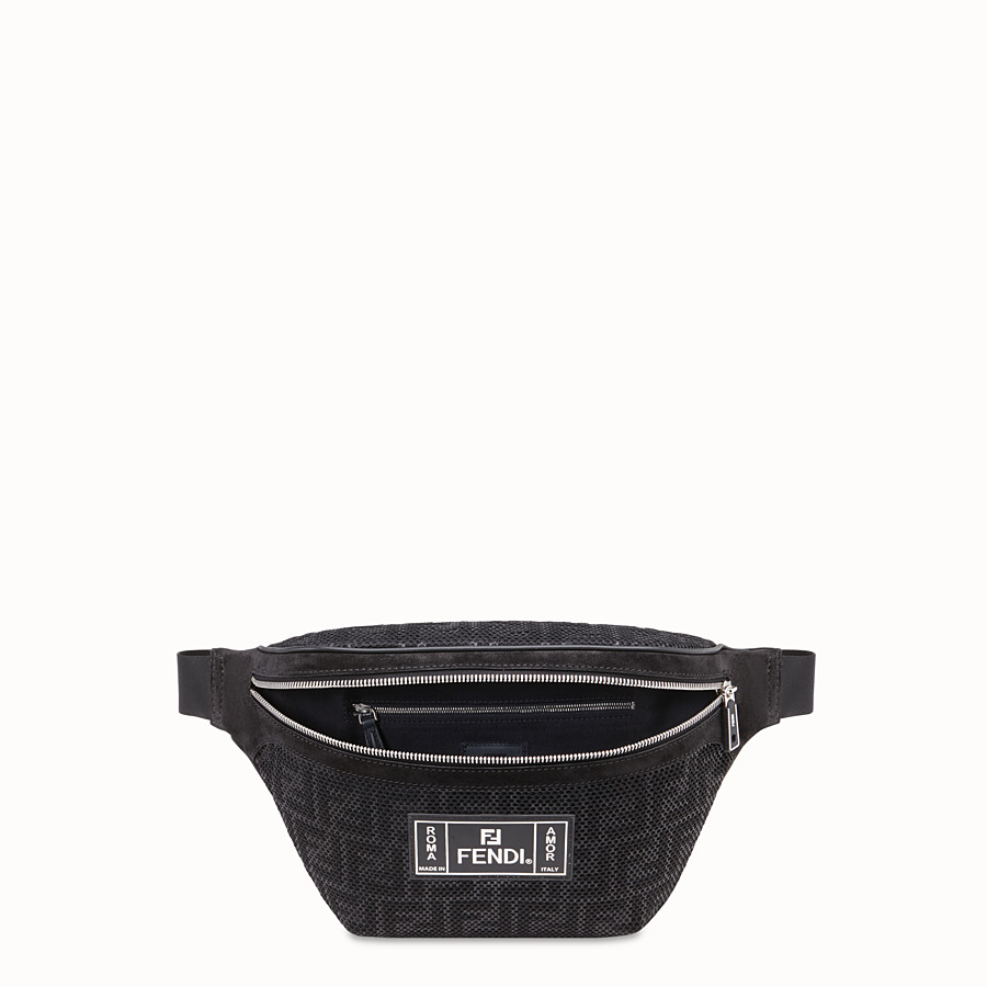 FENDI BELT BAG - Black tech fabric belt bag - view 4 detail
