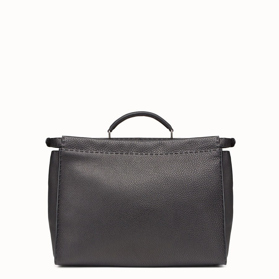 FENDI PEEKABOO MEDIUM - Black leather backpack - view 3 detail