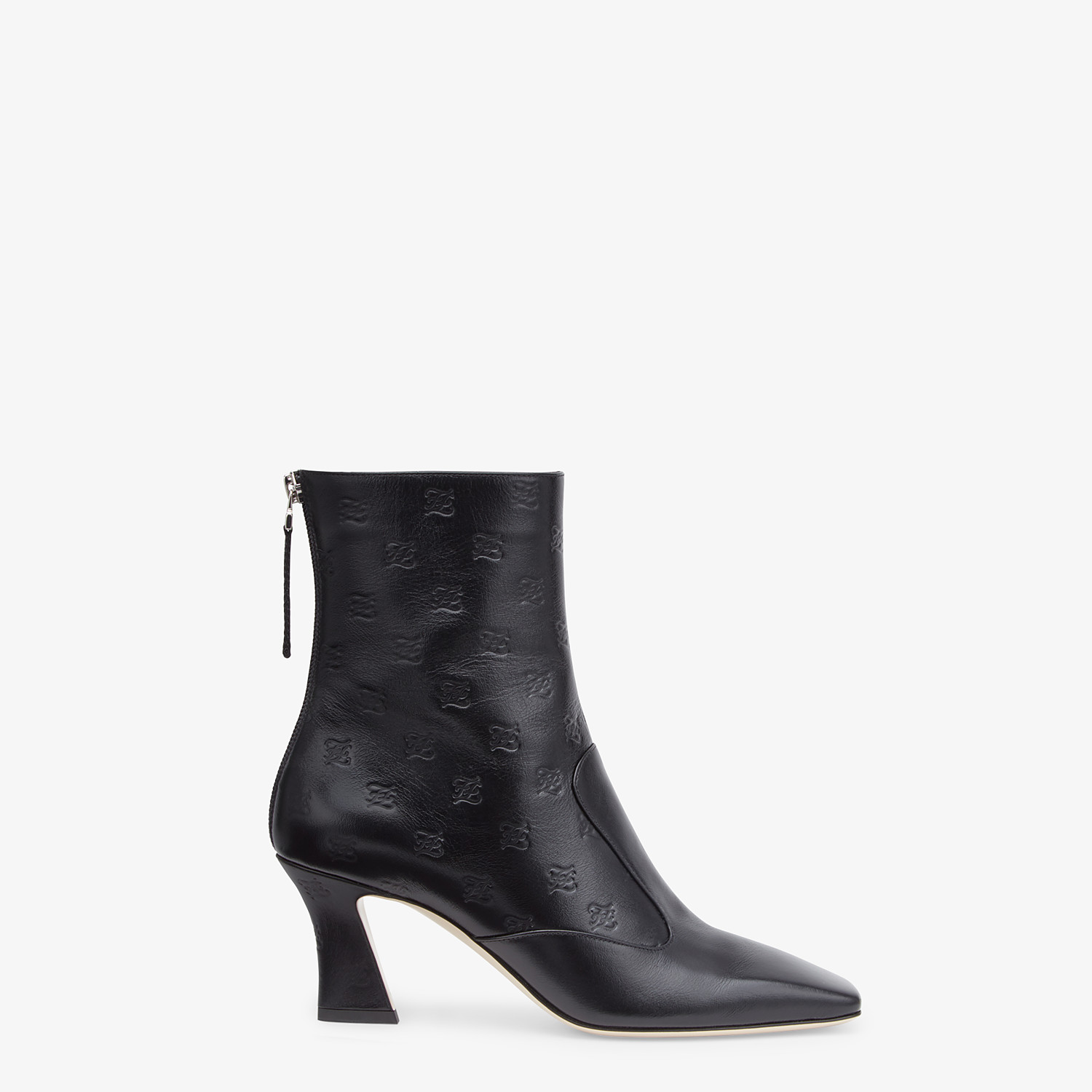 FENDI BOOTS - Black leather booties - view 1 detail
