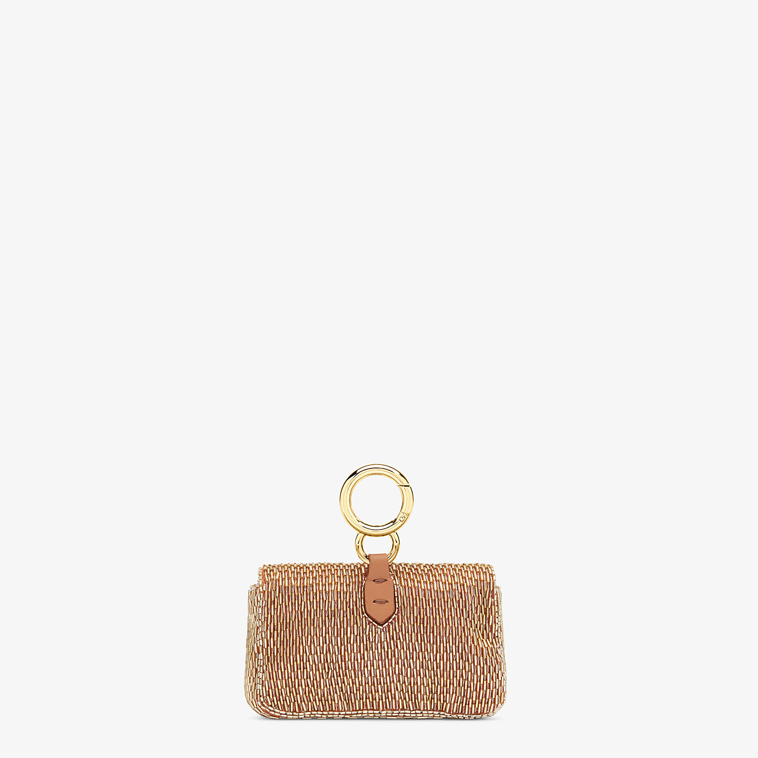 FENDI NANO BAGUETTE - Brown leather charm - view 3 detail