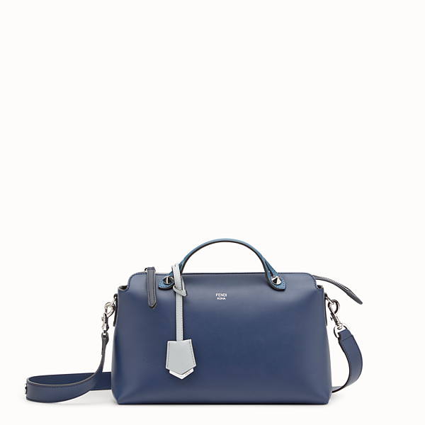 FENDI BY THE WAY REGULAR - Bauletto in pelle blu - vista 1 thumbnail piccola