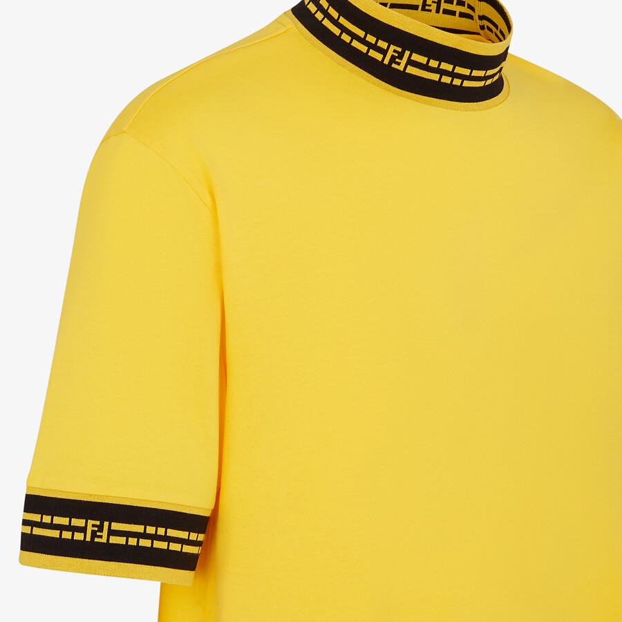 FENDI T-SHIRT - Yellow jersey T-shirt - view 3 detail