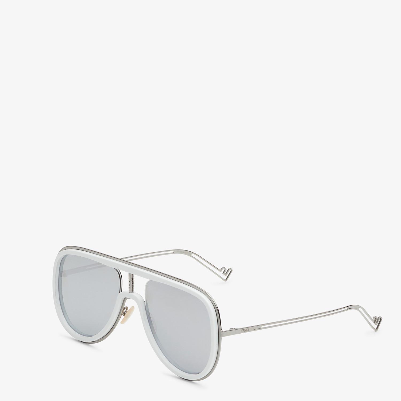 FENDI FUTURISTIC FENDI - White and ruthenium sunglasses - view 2 detail