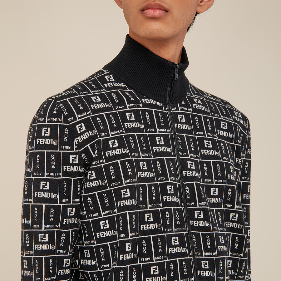 FENDI CARDIGAN - Cardigan in black fabric - view 4 detail