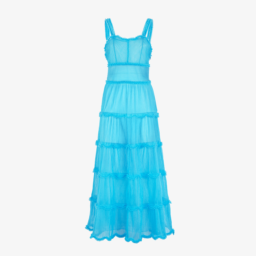 FENDI DRESS - Light blue nylon dress - view 1 detail
