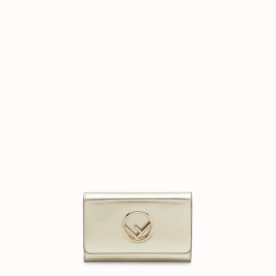 FENDI WALLET ON CHAIN - Metallic leather mini-bag - view 1 detail