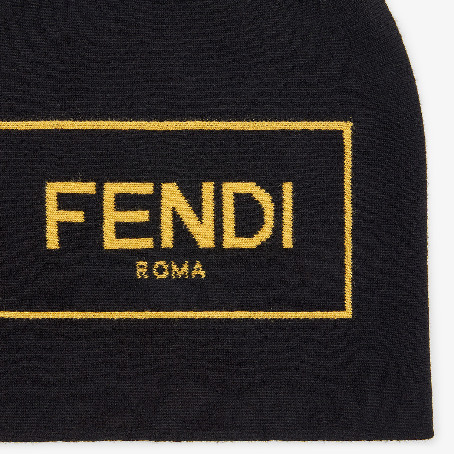 FENDI HAT - Black cashmere and wool hat - view 2 detail