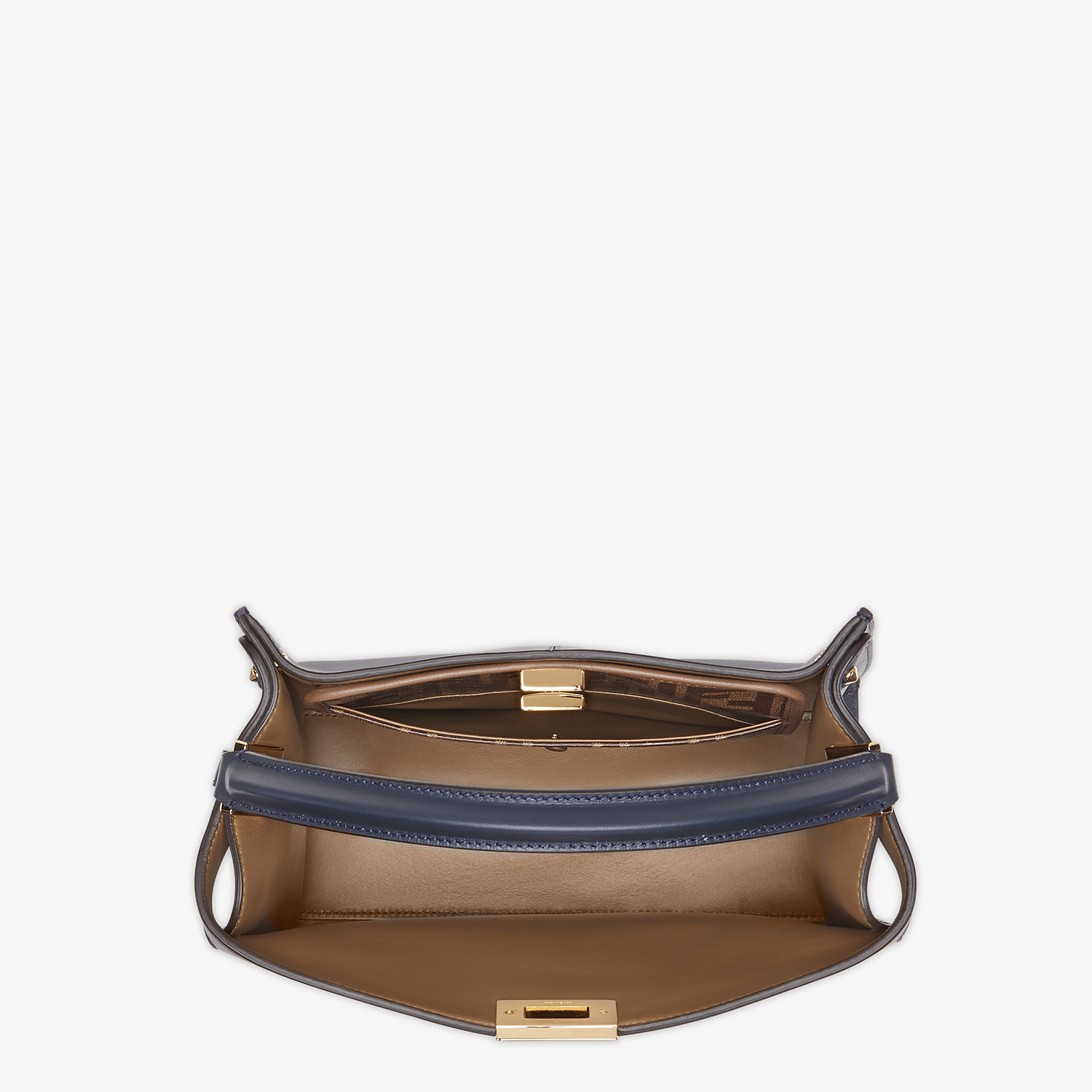 FENDI PEEKABOO X-LITE MEDIUM - Blue leather bag - view 5 detail