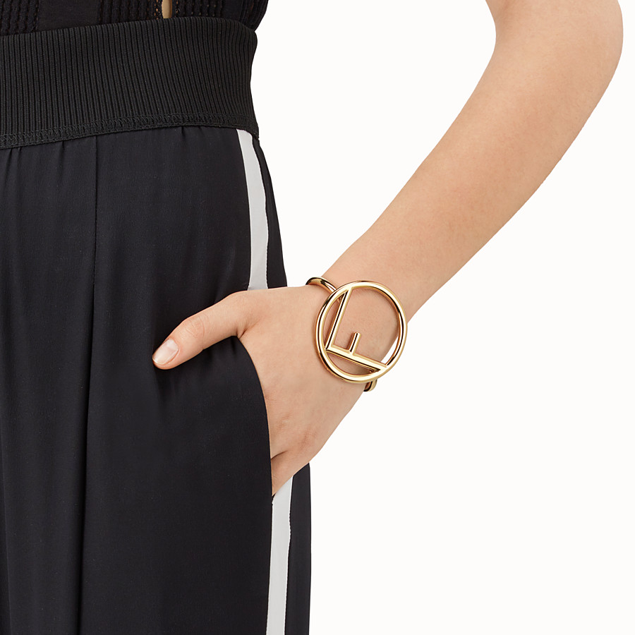 FENDI LOGO BRACELET - Gold colour bracelet - view 2 detail