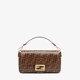 FENDI BAGUETTE CAGE - Tasche aus Stoff in Braun - view 3 thumbnail