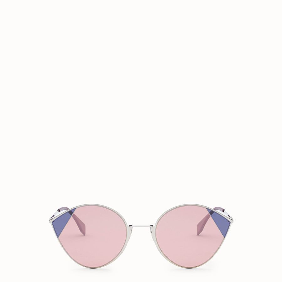 FENDI CUT-EYE - Silver-coloured sunglasses - view 1 detail