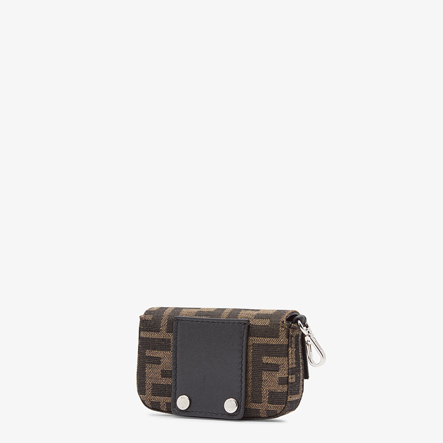 FENDI NANO BAGUETTE CHARM - Brown fabric charm - view 2 detail
