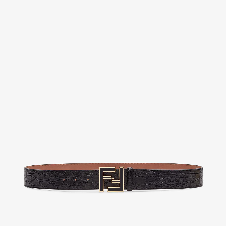 FENDI BELT - Black caiman belt - view 1 detail
