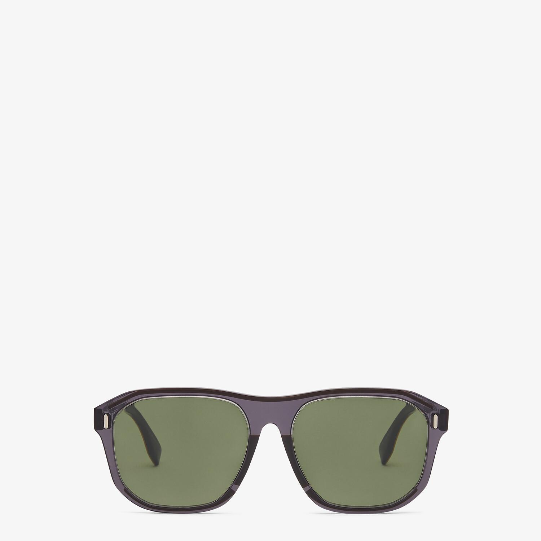 FENDI FENDI - Gray sunglasses - view 1 detail