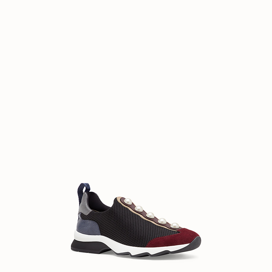 FENDI SNEAKERS - Sneakers in black technical mesh - view 2 detail