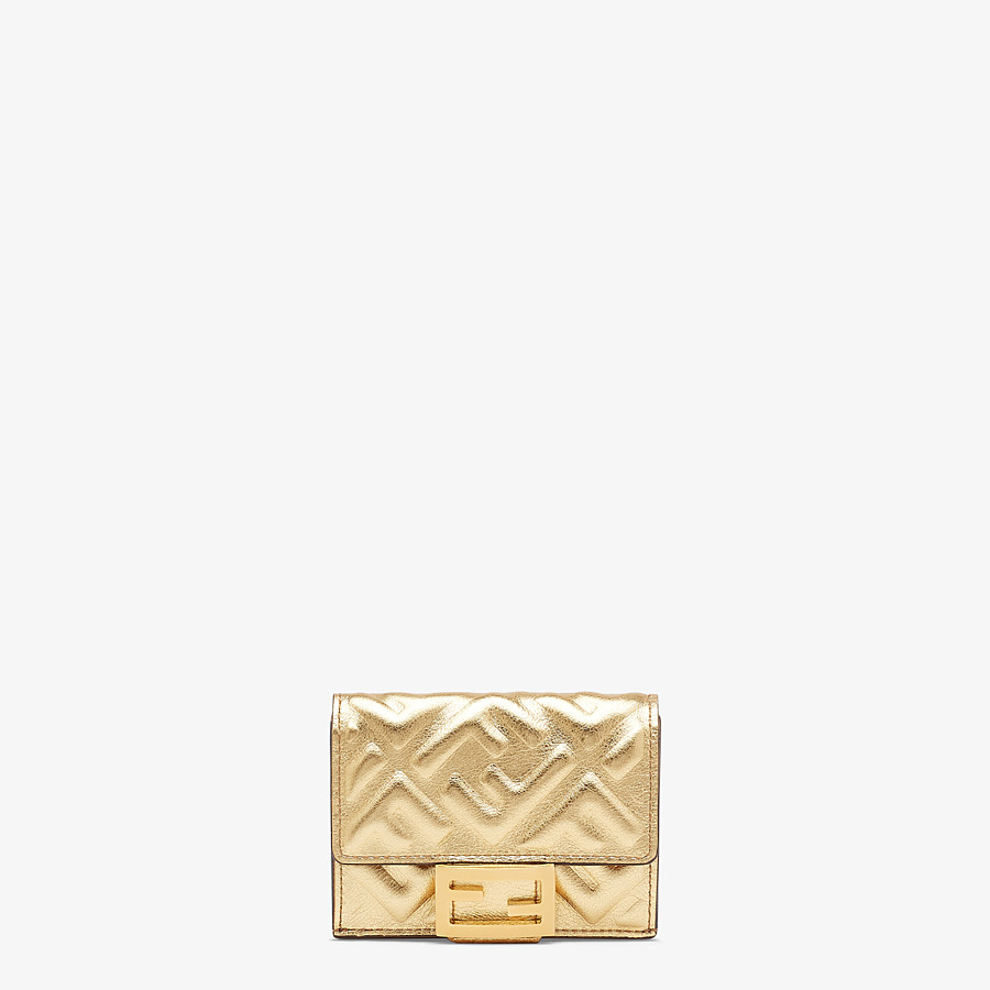 FENDI MICRO TRIFOLD - Golden leather wallet - view 1 detail