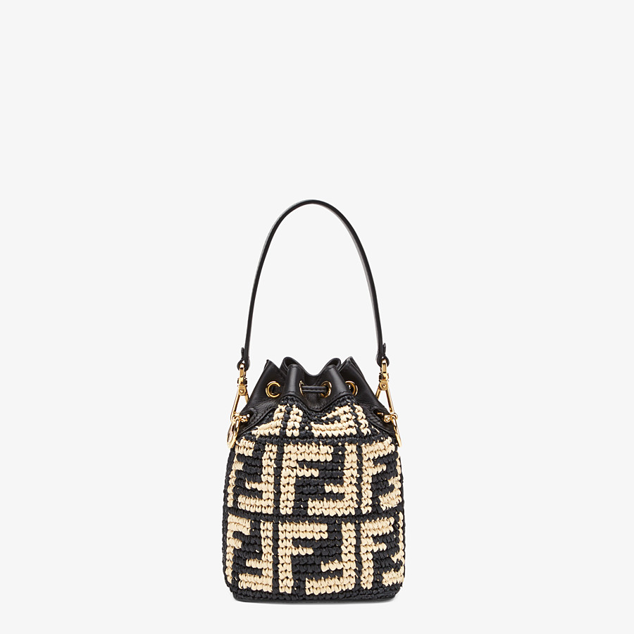 FENDI MON TRESOR - Black raffia mini-bag - view 3 detail
