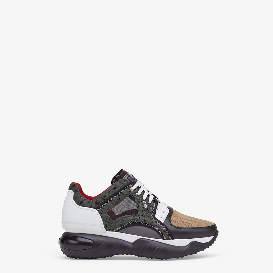 FENDI SNEAKERS - Multicolour tech mesh sneakers - view 1 detail