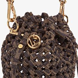 FENDI MON TRESOR - Jacquard fabric interlace mini-bag - view 6 thumbnail