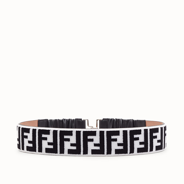 FENDI BELT - White and black fabric belt - view 1 small thumbnail