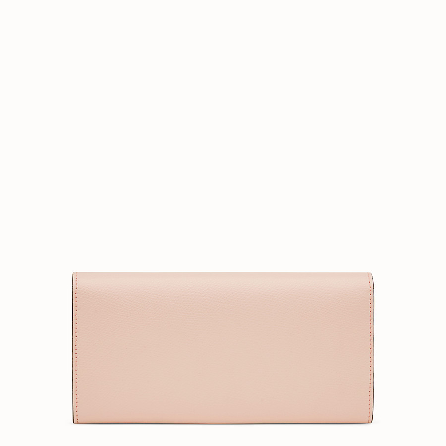 FENDI CONTINENTAL WITH CHAIN - Pink leather wallet - view 3 detail