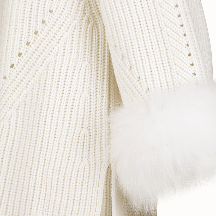 FENDI PULLOVER - White cashmere sweater - view 3 detail