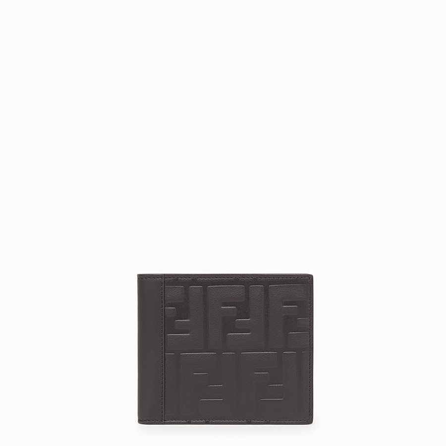 FENDI WALLET - Black leather bi-fold - view 1 detail