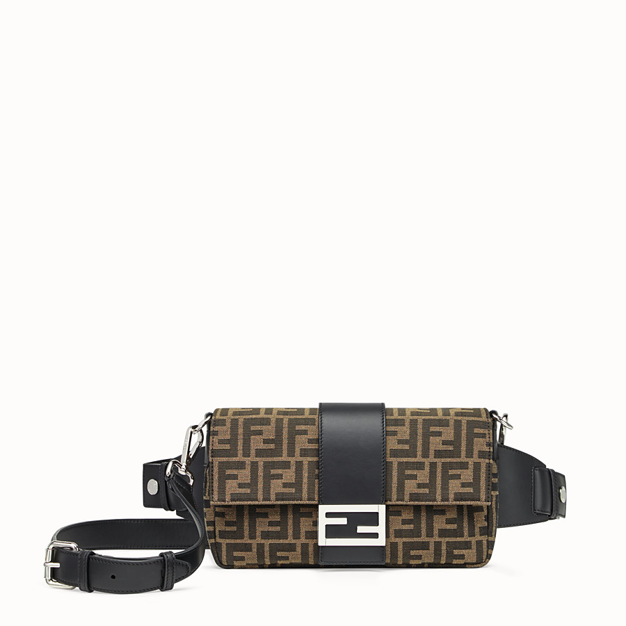 FENDI BAGUETTE - Brown fabric bag - view 1 detail