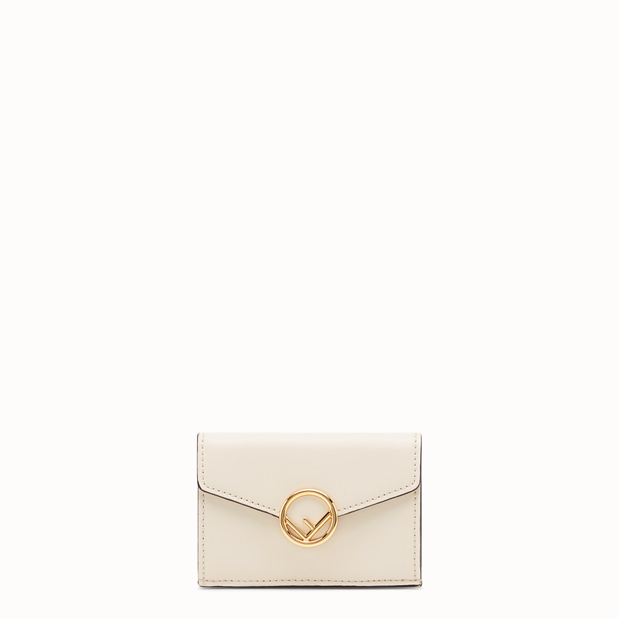 FENDI MICRO TRIFOLD - White leather wallet - view 1 detail