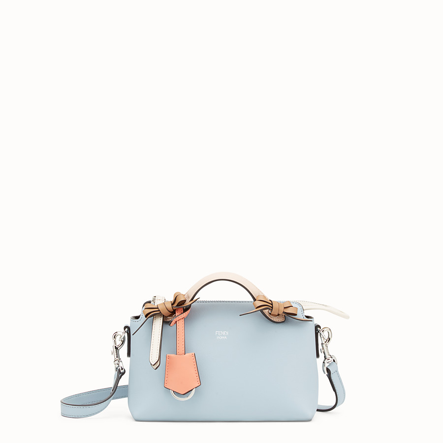 FENDI BY THE WAY MINI - 小型款淺藍色皮革波士頓手提包 - view 1 detail