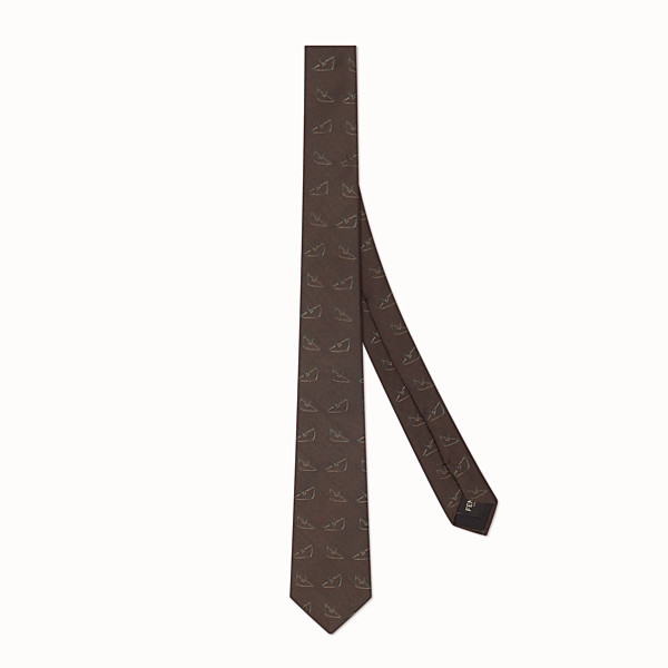 FENDI TIE - Brown silk tie - view 1 small thumbnail