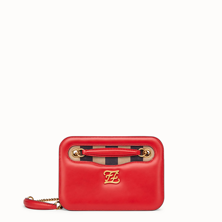 FENDI KARLIGRAPHY POCKET - Red leather bag - view 1 detail