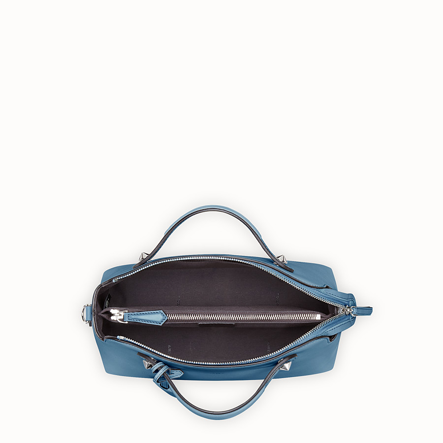 FENDI BY THE WAY REGULAR - Blue leather Boston bag - view 4 detail