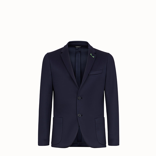 FENDI JACKET - Blue scuba blazer - view 1 small thumbnail