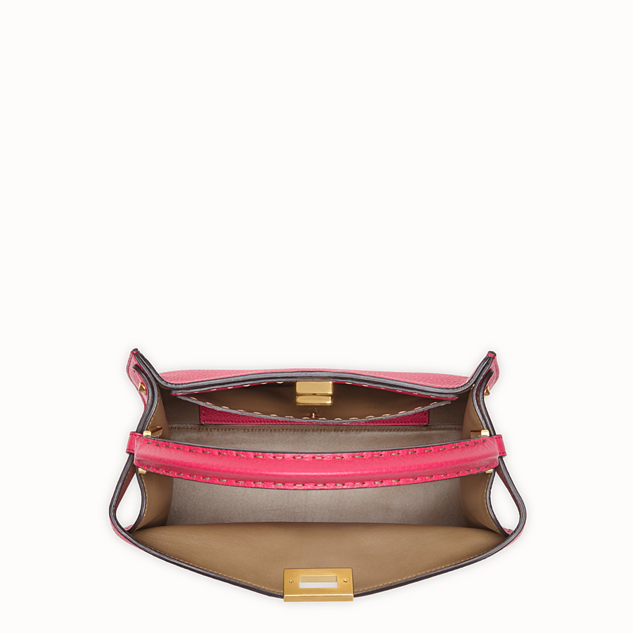 FENDI PEEKABOO X-LITE REGULAR - Fendi Roma Amor leather bag - view 6 detail
