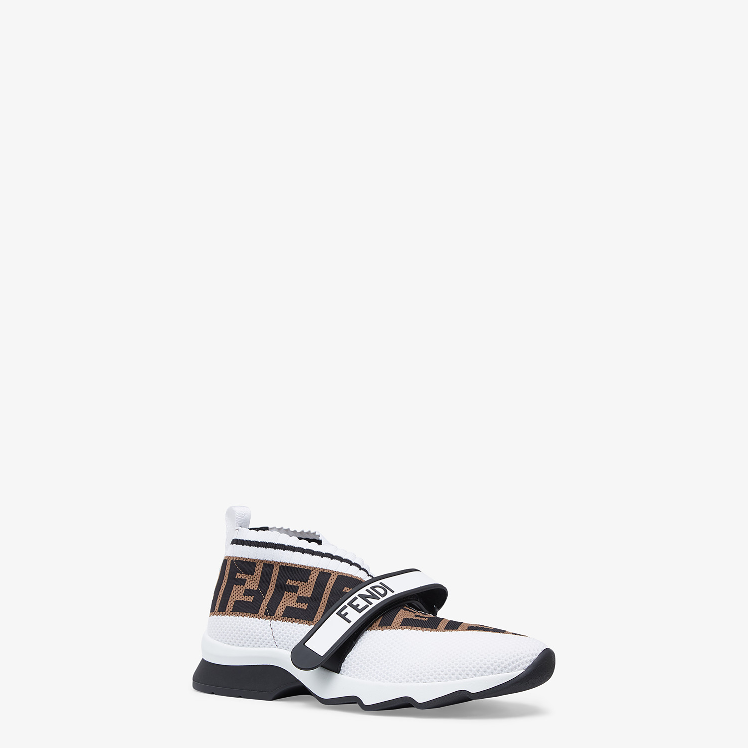 FENDI SNEAKERS - White fabric low-top sneakers - view 2 detail
