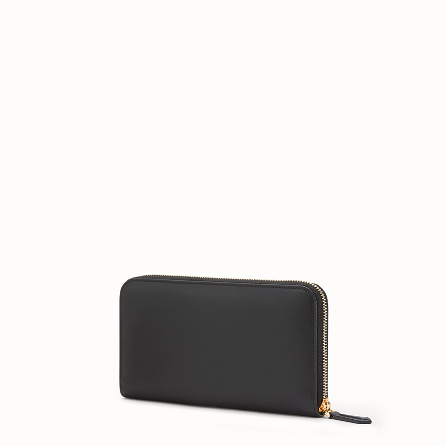 FENDI ZIP-AROUND - Black leather wallet - view 2 detail