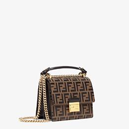 FENDI KAN U SMALL - Brown leather mini-bag - view 3 thumbnail