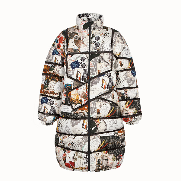 FENDI DOWN JACKET - Multicolour tech fabric down jacket - view 1 small thumbnail