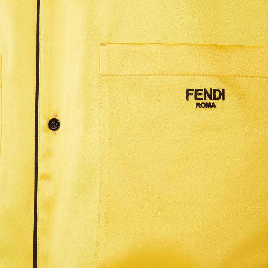 FENDI PAJAMAS - Yellow silk pajamas - view 3 detail
