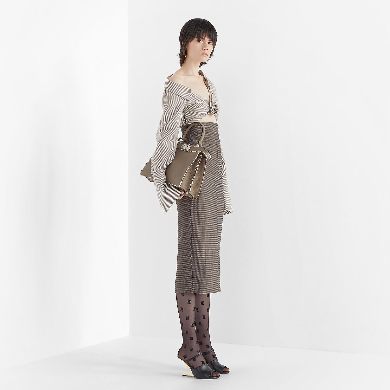 FENDI SKIRT - Grey wool skirt - view 4 detail