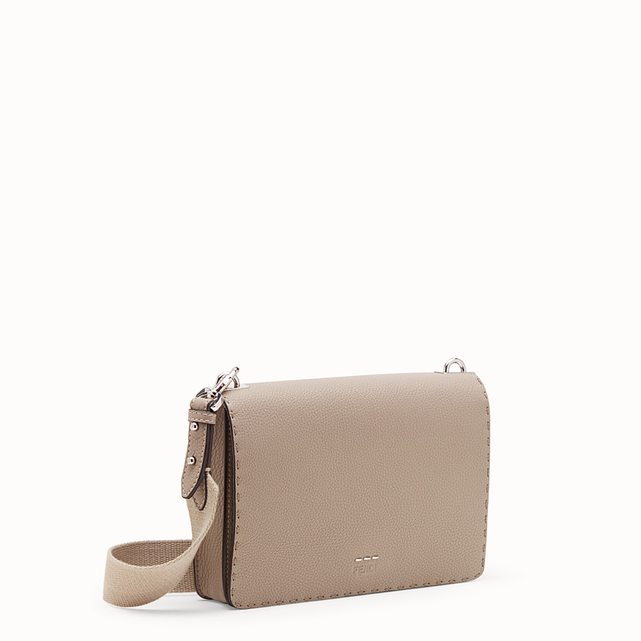 FENDI MESSENGER - Beige leather messenger - view 2 detail