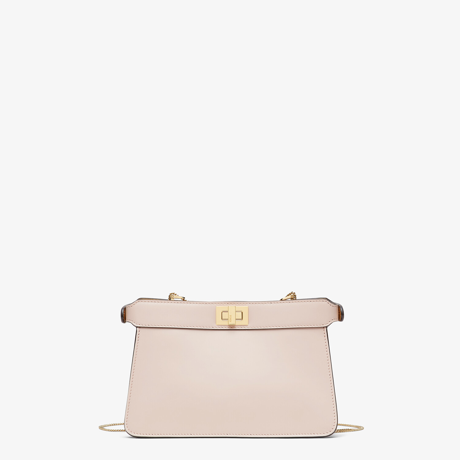 FENDI PEEKABOO I SEE U POCHETTE - Pink leather bag with fringes - view 4 detail
