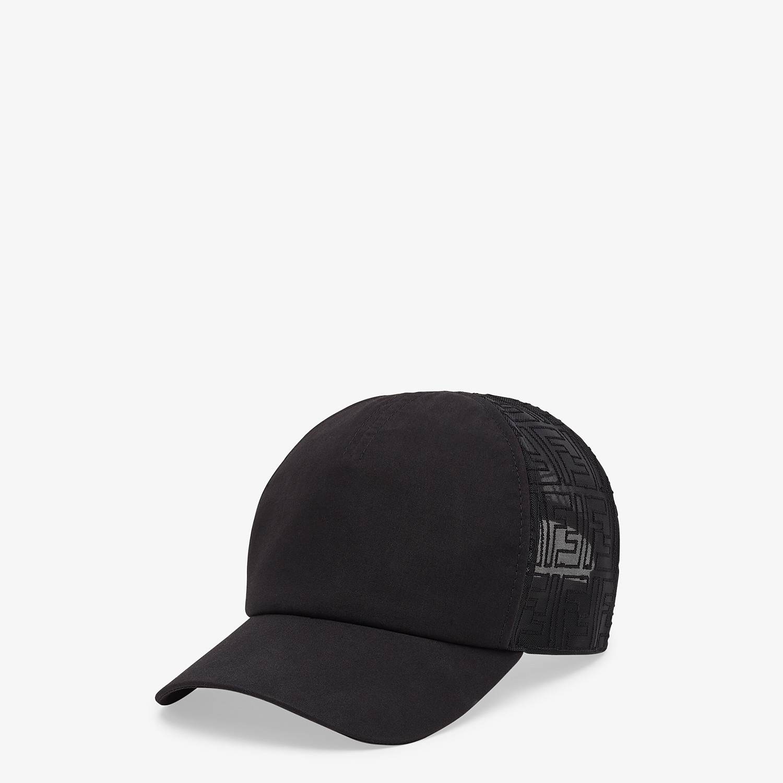 FENDI HAT - Black fabric baseball cap - view 1 detail